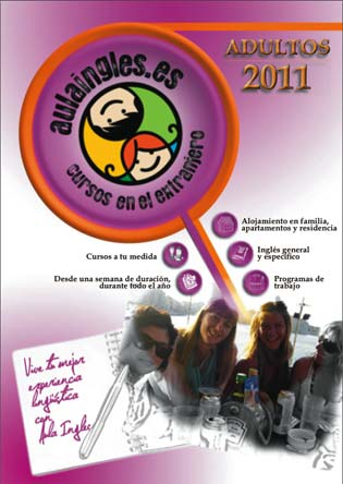 Cover of the Aula Ingles brochure for adult students 2011