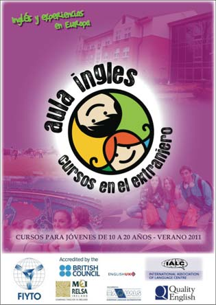 Cover of the Aula Ingles brochure for junior students 2011